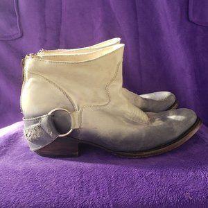 Freebird Cali Ombre Blue Dip Dye Leather booties